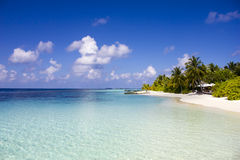 Huvafen Fushi atoll island, Nakachchafushi - The Maldives royalty free stock photography