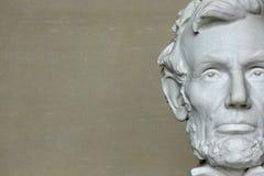 Huvud av Abraham Lincoln i Washington D C Arkivbild