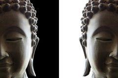 Huvud av buddha Arkivbild