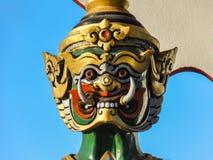 Huvud av den Yaksha förmyndaren Royaltyfria Foton