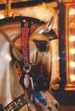 Huvud av en karusellhäst royaltyfri fotografi