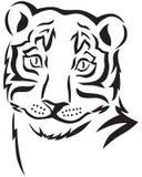 Huvud av en tiger royaltyfri illustrationer