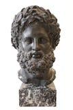 Huvud av Heracles, Italien, 19th århundrade, basalt Eremitboning St Petersburg, Ryssland Royaltyfri Bild