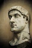 Huvud av kejsaren Constantine, Capitol, Rome Arkivbilder