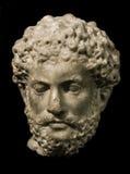 Huvud av Marcus Aurelius, roman kejsare arkivbild
