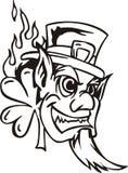 Huvud av troll stock illustrationer
