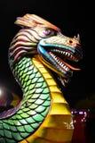 Huvud för karnevalrittdrake Arkivbild