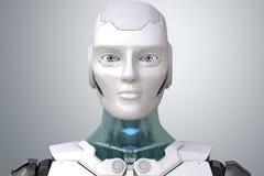 Huvud för robot` s i framsida vektor illustrationer