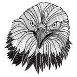 Huvud för skallig örn som USA symbolet för maskot- eller emblemdesignen, en sådan logo. Royaltyfri Fotografi