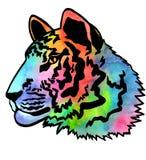 Huvud för tiger` s Färgvattenfärgillustration Royaltyfria Foton