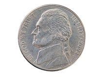 Huvud för USA-myntmynt arkivfoton