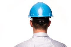 Huvud med säkerhetshjälmen Royaltyfri Foto