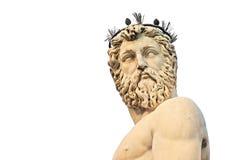 Staty av Neptune, Firenze Arkivfoton