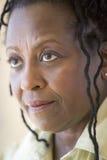 huvud skjuten kvinna Arkivfoto