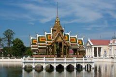 Huvudbeautyful slott i Ayutthaya Arkivbild