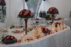 huvudbordbröllop Fotografering för Bildbyråer