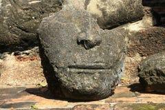 Huvudbuddha sten Royaltyfri Bild