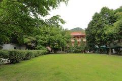 Huvudbyggnad av den södra fujian buddistiska högskolan (det minnan buddistiska institutet) Arkivfoton