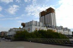 Huvudbyggnaden av den ryska akademin av vetenskaper i Moskva fotografering för bildbyråer