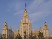 Huvudbyggnaden av MSU Royaltyfria Bilder