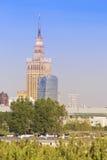 huvudcenter stadspoland sikt warsaw Arkivfoton