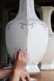 huvuddelmålningsporslin royaltyfri bild