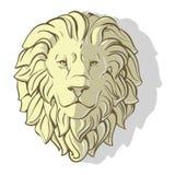 Huvudet av lionen skuggar Royaltyfri Fotografi
