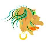 Huvudet av tecknad filmteckenet i profil Royaltyfria Bilder