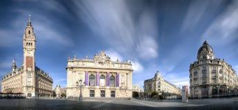 Huvudfyrkant av Lille, Frankrike royaltyfri bild