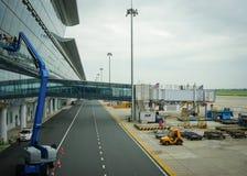 Huvudinternationell flygplats i Peking, Kina Arkivbild