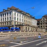 Huvudkontor av Zurich den kommunala polisen i staden av Zurich, Schweiz Arkivfoto