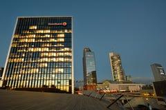 Huvudkontoret av Swedbank, Vilnius Fotografering för Bildbyråer