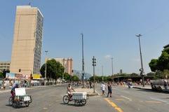 Huvudsaklig aveny av Rio de Janeiro royaltyfri foto