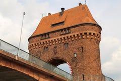 Huvudsaklig bro för porthus i den Miltenberg Tyskland royaltyfri bild