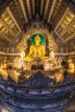 Huvudsaklig Buddhastaty på silver Ubosotha Royaltyfri Fotografi