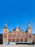 Det Amsterdam Centraal drevet posterar Royaltyfria Foton