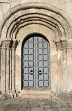 "Huvudsaklig dörr av domkyrkan av St George (1230†""1234) i Yuryev-Polsky, Vladimir region, Ryssland Royaltyfri Foto"