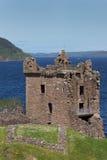 Huvudsaklig del av den Urquhart slotten på Loch Ness Fotografering för Bildbyråer