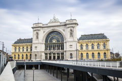Huvudsaklig drevstation, Budapest, Ungern Royaltyfria Bilder