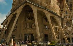 Huvudsaklig enterance till Sagrada Familia, kyrka Royaltyfri Fotografi