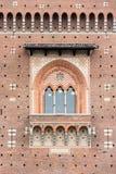 Huvudsaklig fasad av Milan Sforza Castle Royaltyfri Fotografi