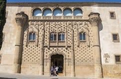 Huvudsaklig fasad för Jabalquinto slott, Baeza, Spanien Royaltyfria Foton