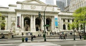 Huvudsaklig filial för New York offentligt bibliotek Arkivfoto