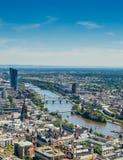 Huvudsaklig flod, Frankfurt, Tyskland Arkivbild