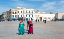 Huvudsaklig fyrkant av Essaouira, Marocko arkivfoton