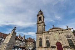Huvudsaklig fyrkant av Langres, Frankrike Royaltyfria Foton