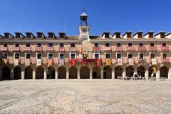 Huvudsaklig fyrkant av Ocaña, Toledo landskap, Castilla La Mancha, Spanien arkivbild