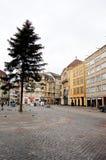 Huvudsaklig fyrkant för Basel under julperioden Royaltyfri Foto