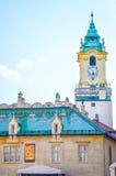 Huvudsaklig fyrkant, Hlavne Namestie i Bratislava, Slovakien Arkivbild