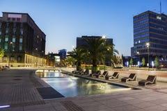 Huvudsaklig fyrkant i Katowice royaltyfria foton